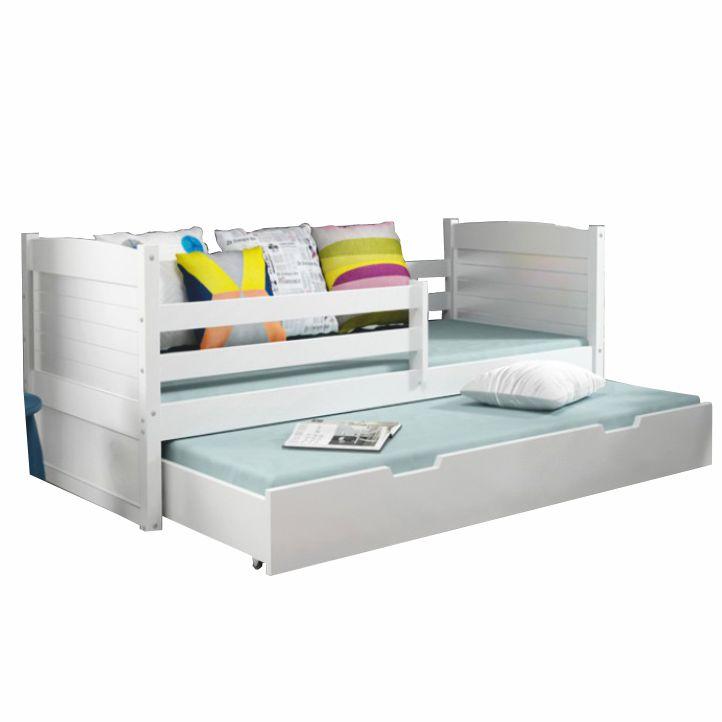 7afe83554b33 TEMPO KONDELA Drevená posteľ s úložným priestorom biela biela KORI 2