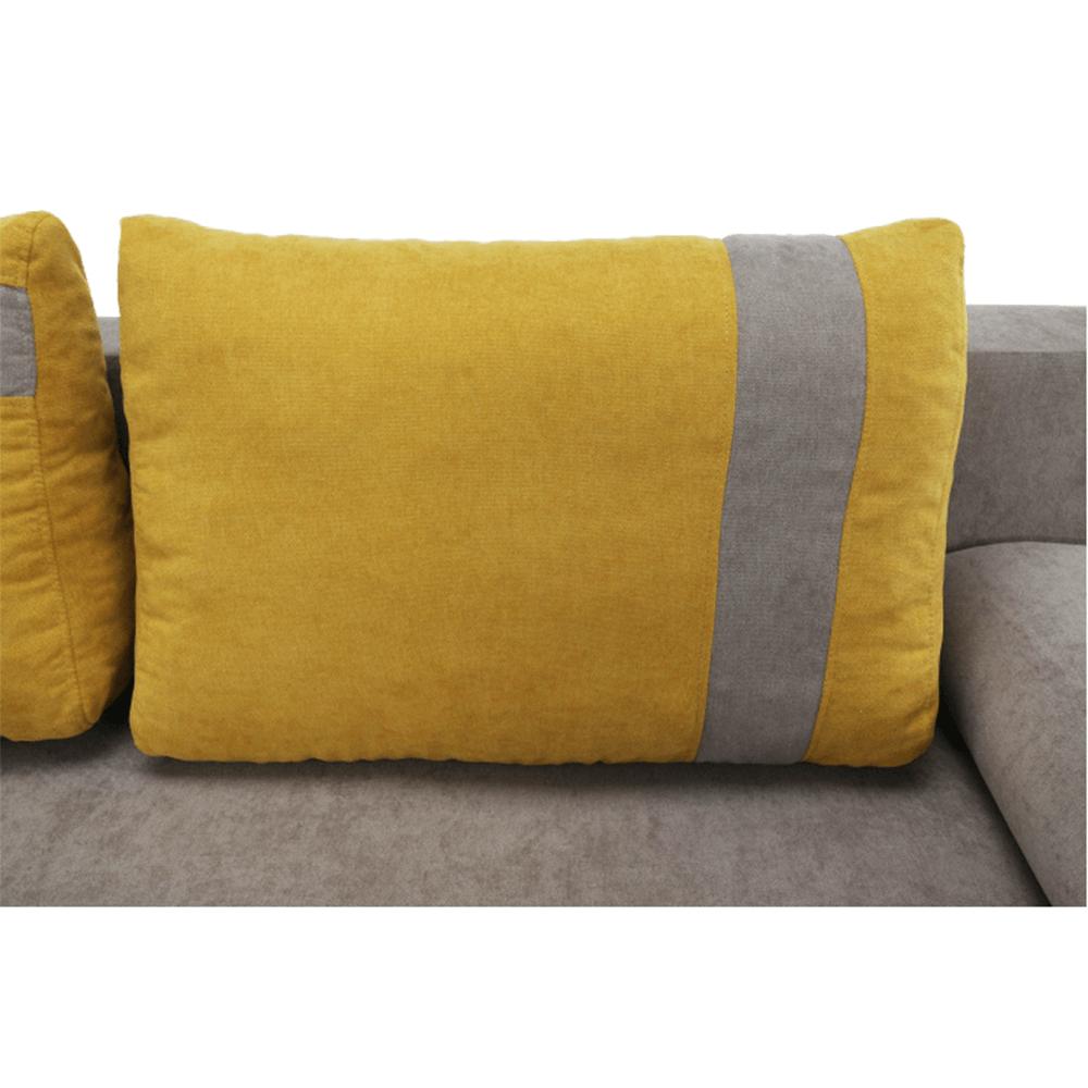 Kanapé ágyfunkcióval és ágyneműtartóval, szövet Cosmic 808 szürke-barna/sárga 715, BOLIVIA