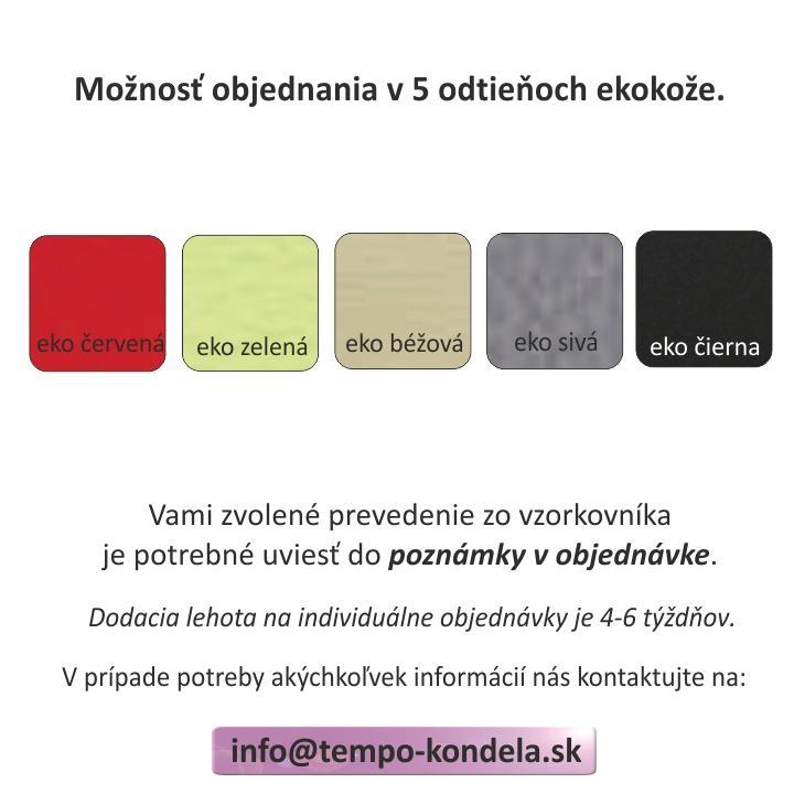 TEMPO KONDELA Posteľ, ekokoža biela, 160x200, GERET - Tempo nábytek
