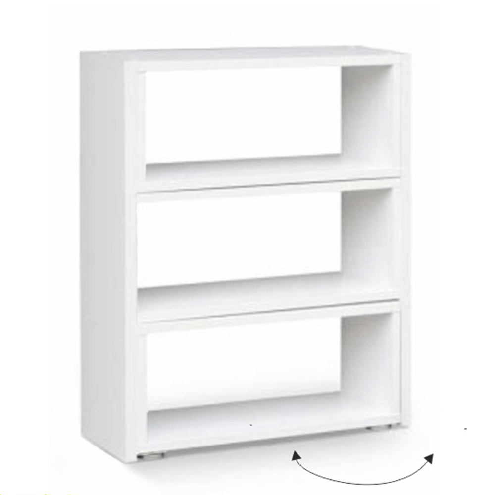 Regál, bílý, DTD laminovaná, KLOE III, TEMPO KONDELA