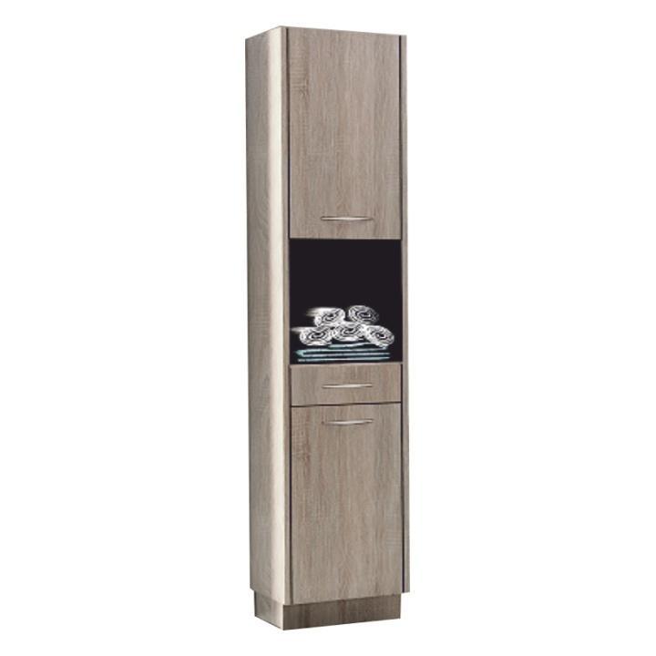Magas szekrény, trufla sonoma tölgyfa, OLIVIA TR11