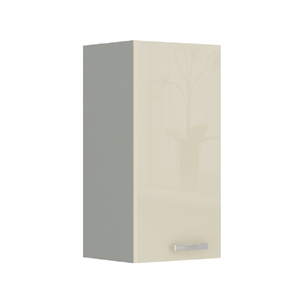 Skříňka horní, krém vysoký lesk, PRADO 40 G-72 1F, TEMPO KONDELA