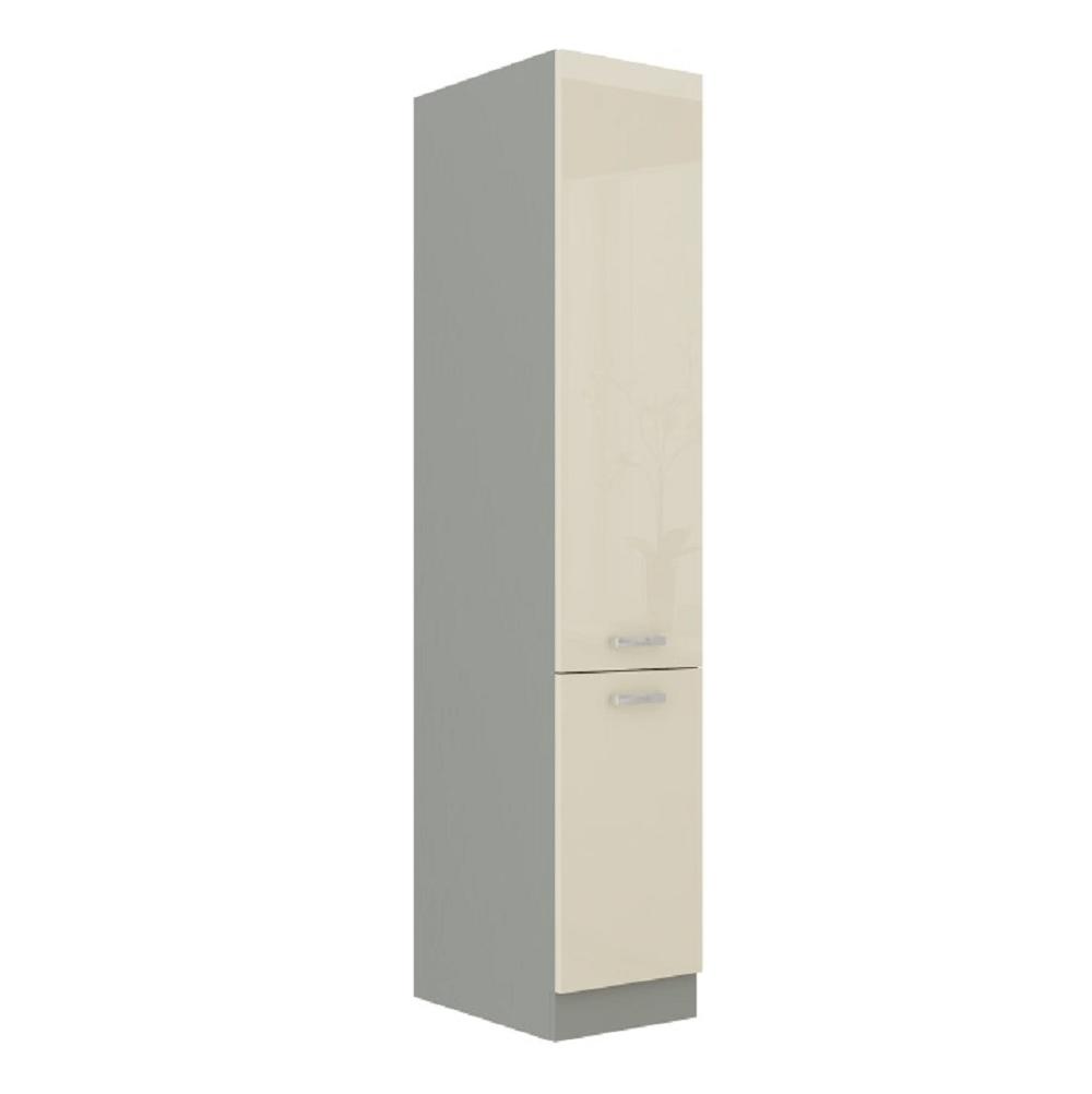 Skříňka dolní vysoká, krém vysoký lesk, PRADO 40 DK-210 2F