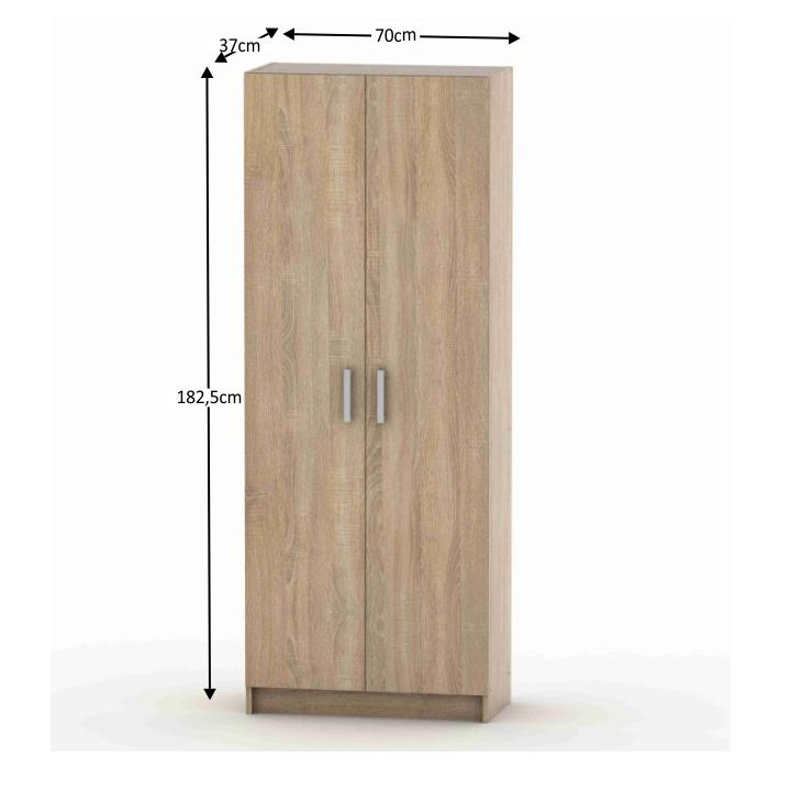 2-ajtós szekrény, polcos, tölgy sonoma, BETTY 7 BE07-004-00