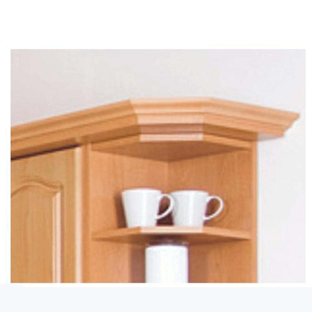 Coroană/plintă decorativă pentru dulapul W60/60, anin,  Lora New MDF Klasik