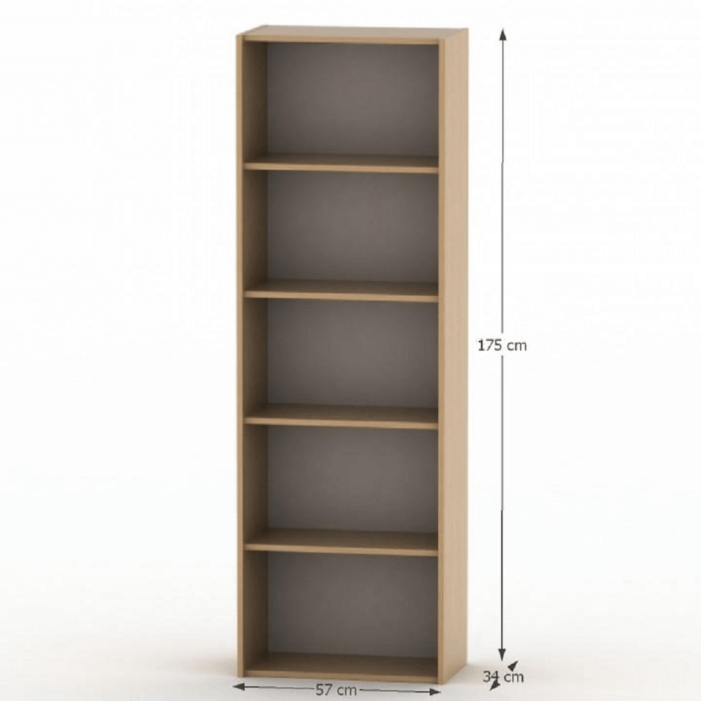 Magas könyvespolc, bükk, TEMPO ASISTENT NEW 001
