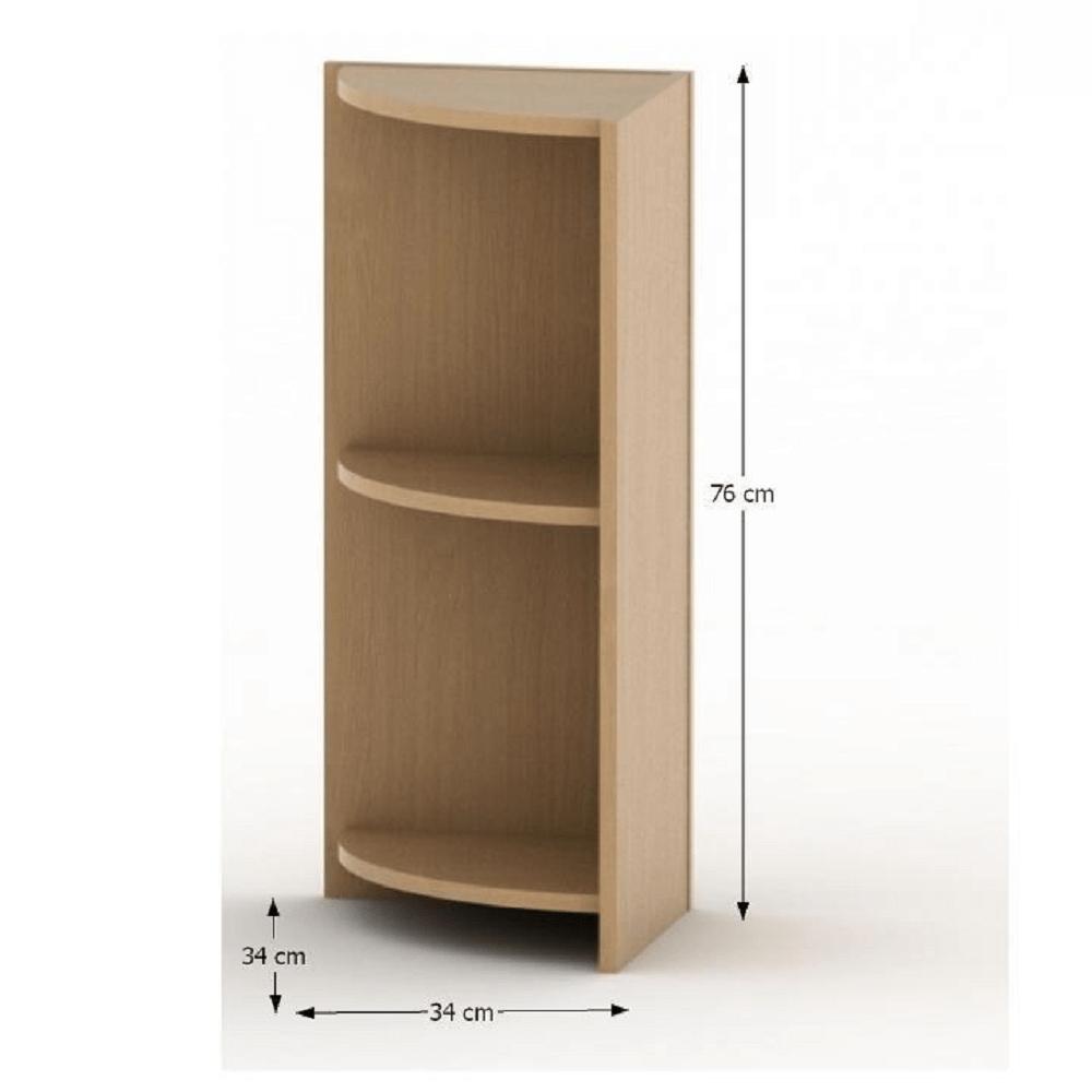 Rohová okrajová skříňka, buk, TEMPO ASISTENT NEW 014