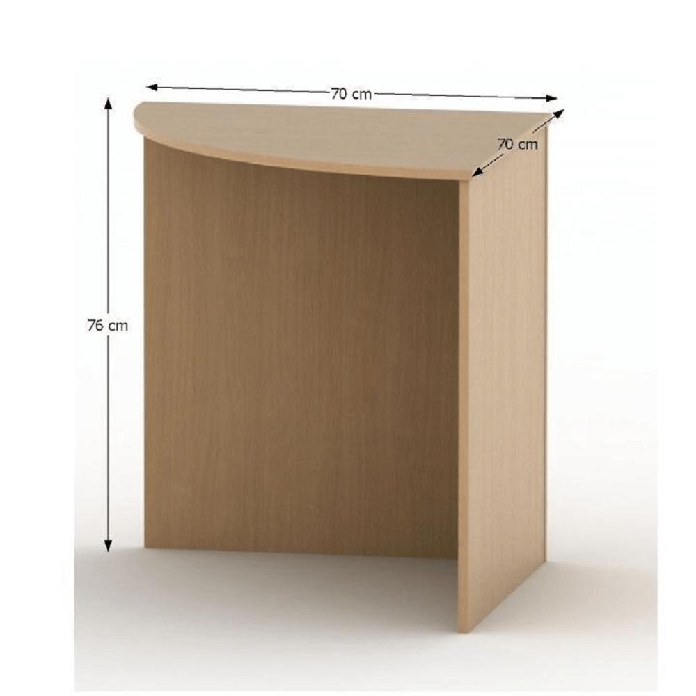 Stůl rohový obloukový, buk, TEMPO ASISTENT NEW 024, TEMPO KONDELA