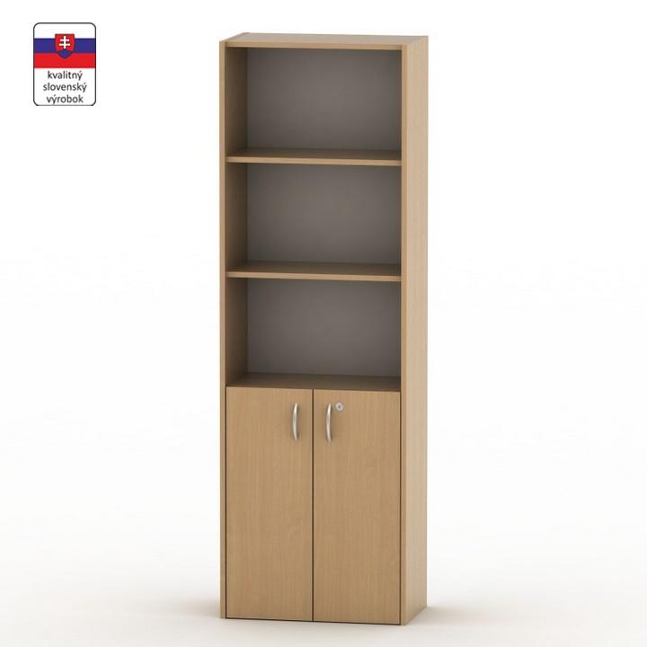 Szekrény, lent ajtók+zár.,bükkfa, TEMPO ASISTENT NEW 002