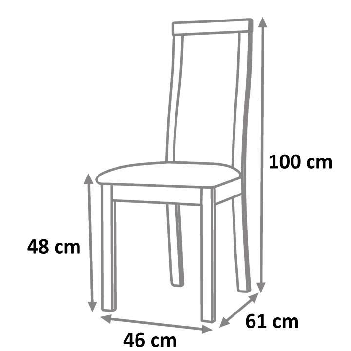 TEMPO KONDELA Jedálenská stolička, tmavý orech/ekokoža čierna, RORY NEW - Tempo nábytek