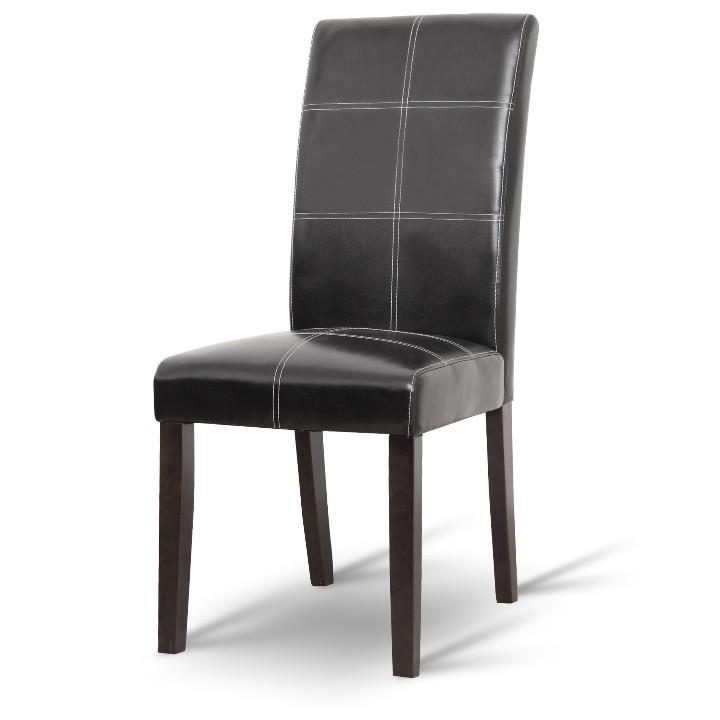 Jedálenská stolička, čierna/tmavý orech, RORY NEW