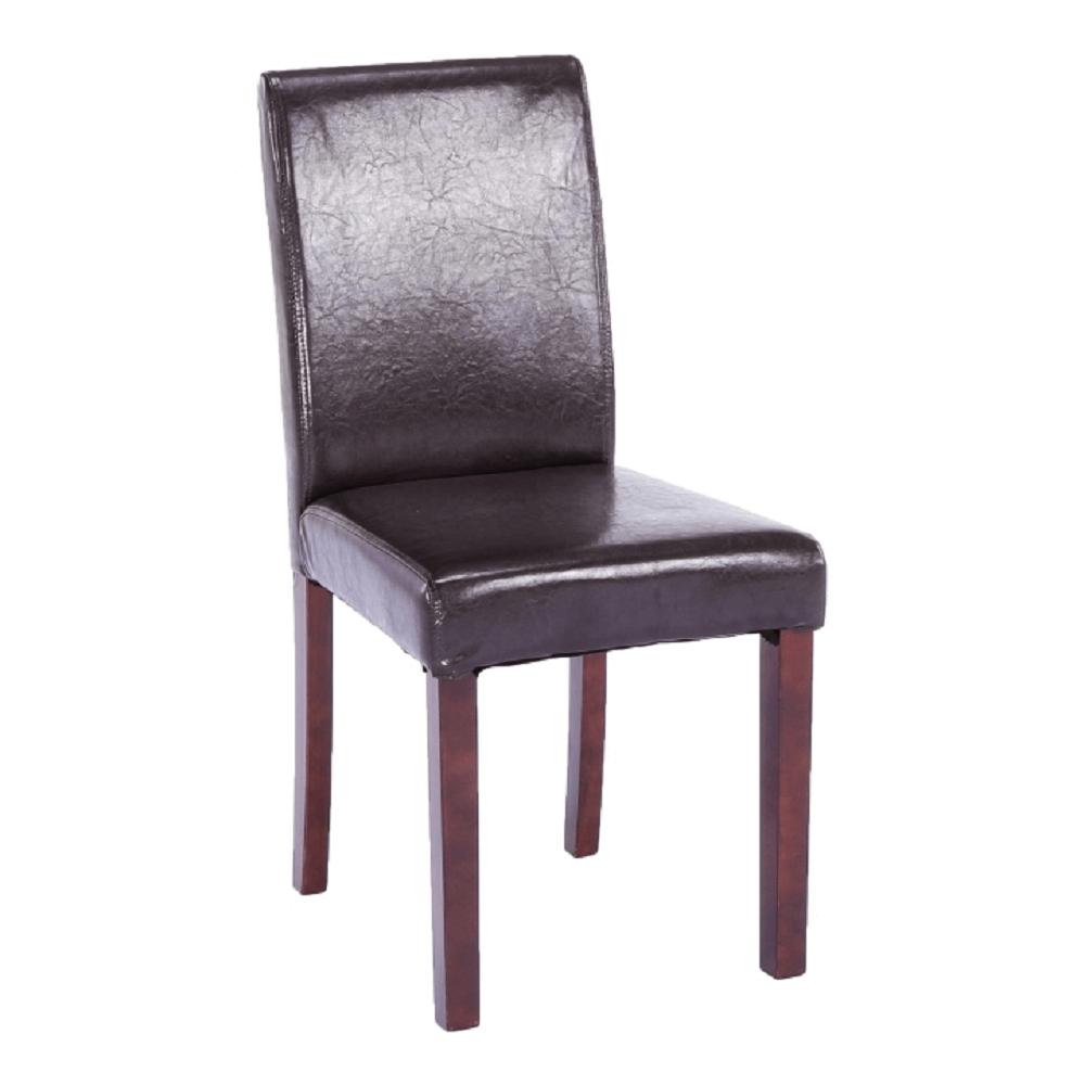 Jídelní židle, tmavohnědá ekokůže / dřevo, VIVA NEW, TEMPO KONDELA