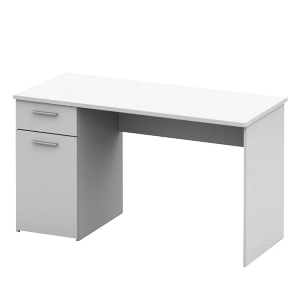 Písací stôl, biela, EGON