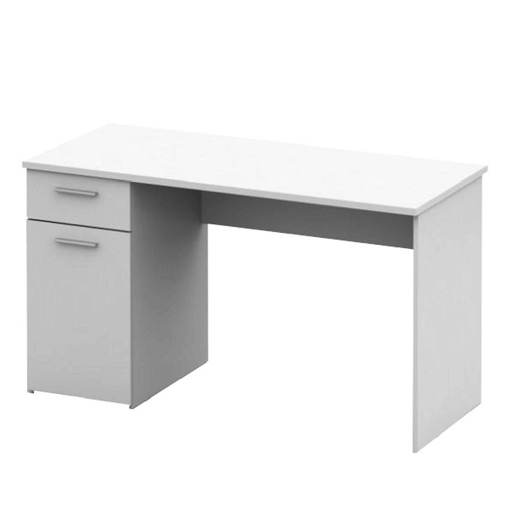 EGON -;PC stůl, bílá, TEMPO KONDELA