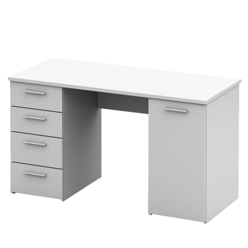 EUSTACH - psací stůl, bílá, DTD laminovaná, TEMPO KONDELA