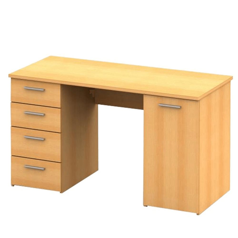 PC stůl, buk, DTD laminovaná, EUSTACH, TEMPO KONDELA