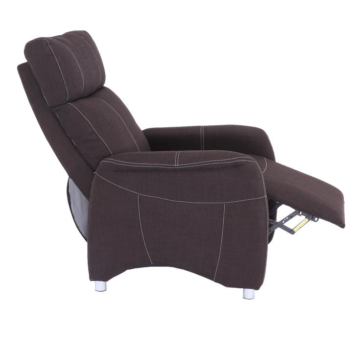 Állítható TV fotel, szövet csokoládé, FOREST