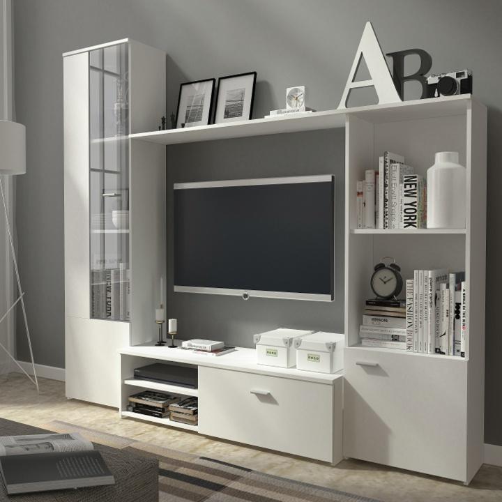 Obývacia stena, biela/biela, ESPANA