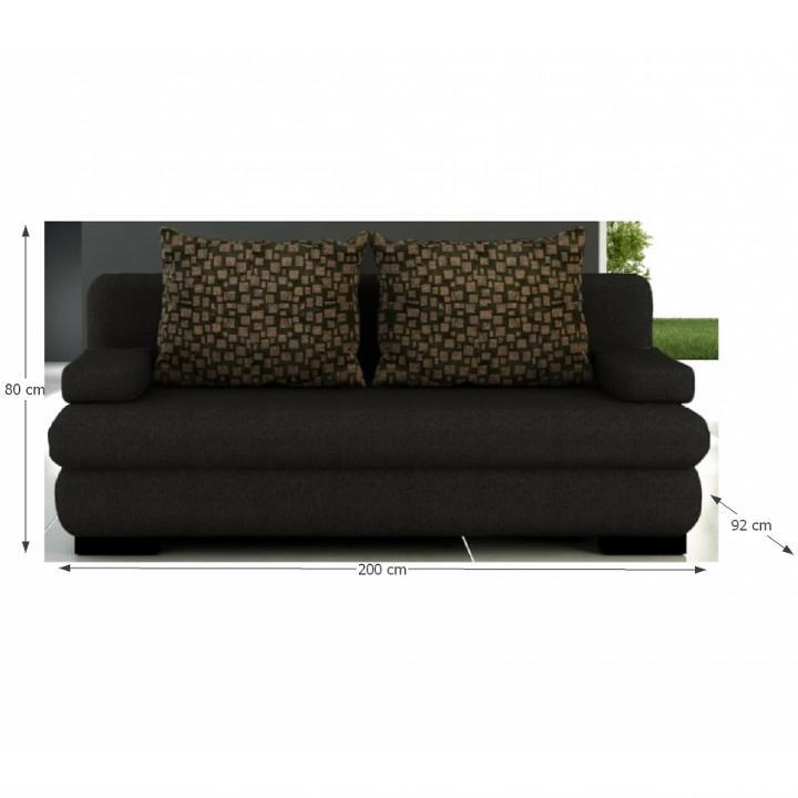 TEMPO KONDELA Rozkladacia pohovka s úložným priestorom, hnedá, THERESA - Tempo nábytek