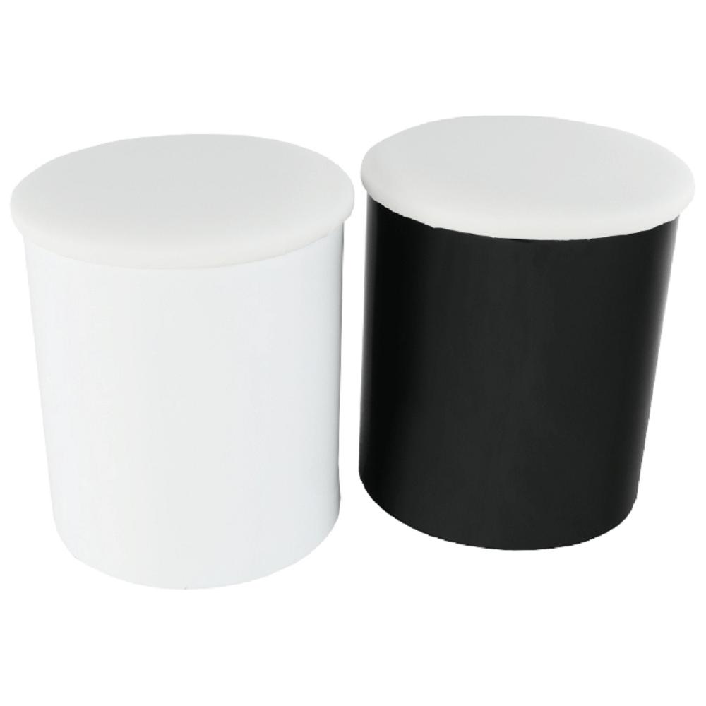 Dohányzóasztal, fehér extra magas fényű HG/fekete extra magas fényű HG, RUPERT