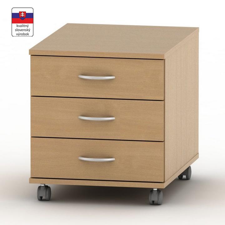 Kontajner 3 zásuvkový, buk, TEMPO ASISTENT NEW 016