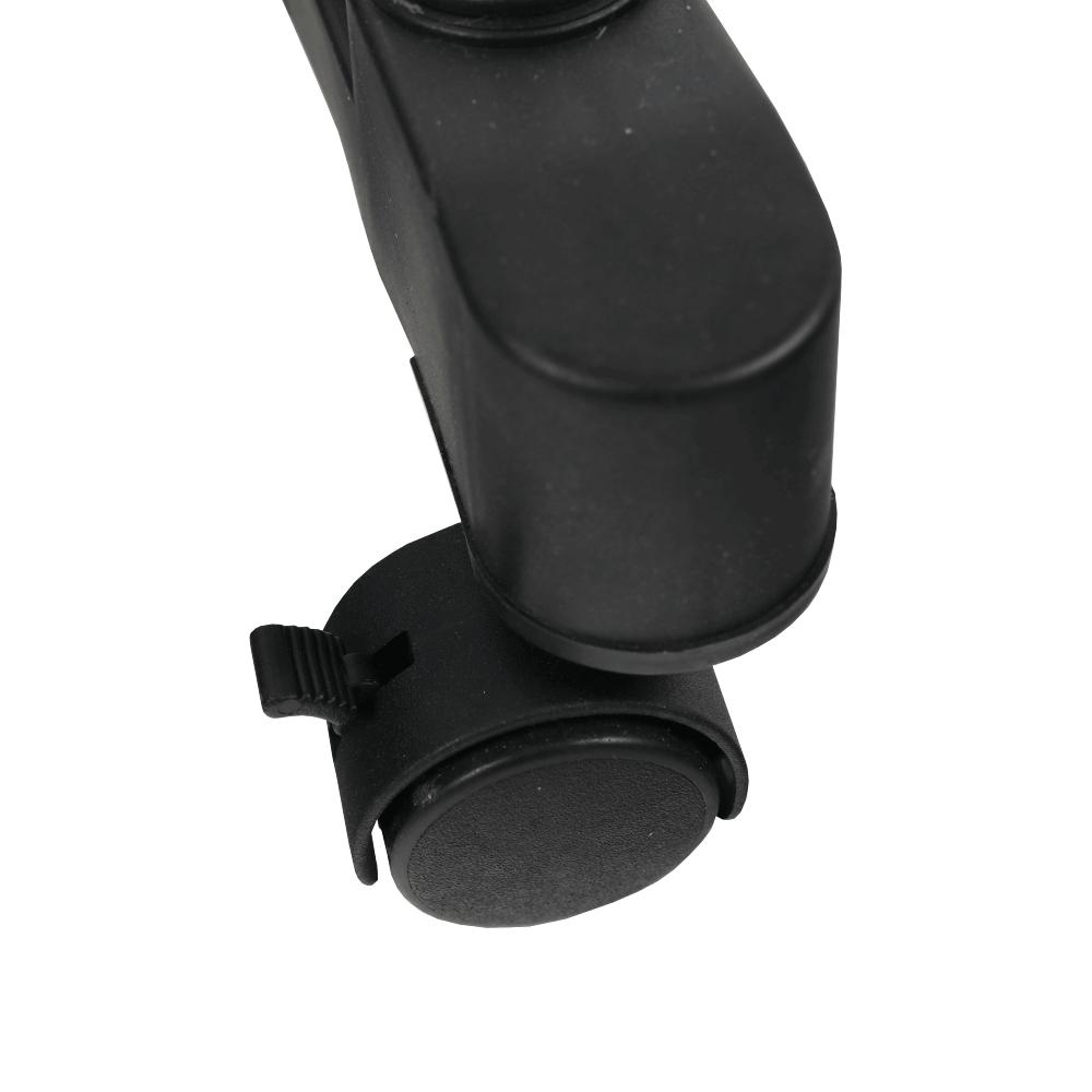 Pojazdný vešiak, nerezový kov/čierny plast, DOLFO