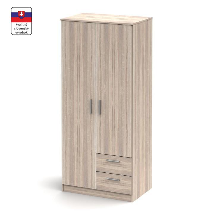 2 ajtós szekrény fiókokkal, sonoma tölgyfa, NOKO-SINGA 81