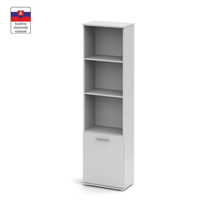 Polcos szekrény, fehér, NOKO-SINGA 71