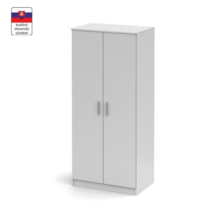 2ajtós szekrény, fehér, NOKO-SINGA 80