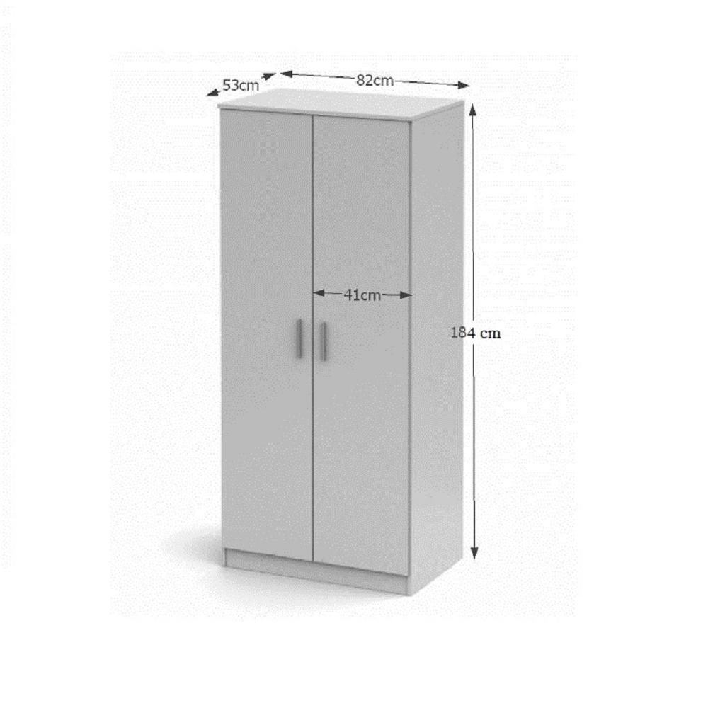 Vešiaková skriňa, biela, NOKO-SINGA 80