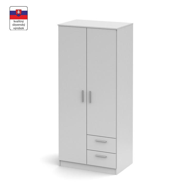 Kétajtós szekrény, fehér, NOKO-SINGA 81