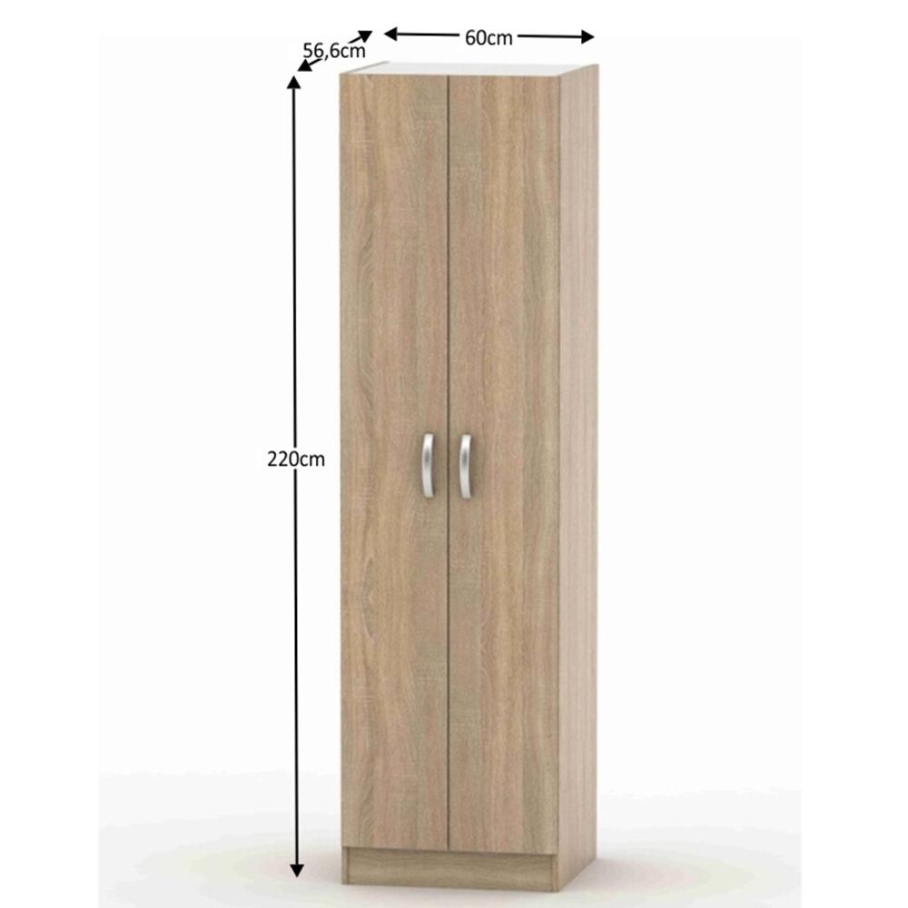 2-ajtós szekrény, akasztós, tölgy sonoma, BETTY 2 BE02-004-00
