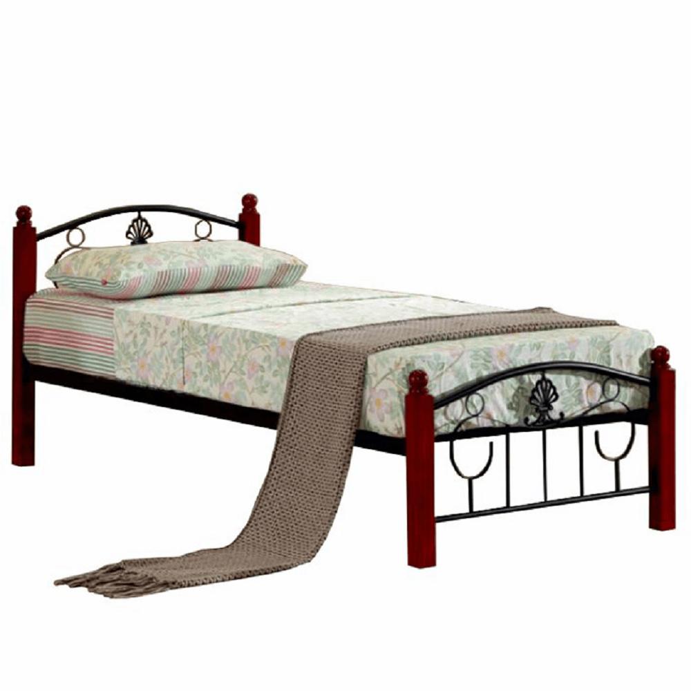 Kovová postel s roštem, 90x200, MAGENTA, TEMPO KONDELA