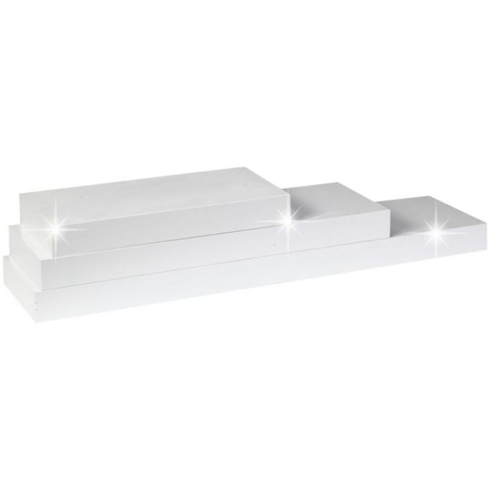 Polc, fehér fényes, 80x25, GANA FY 11044-4