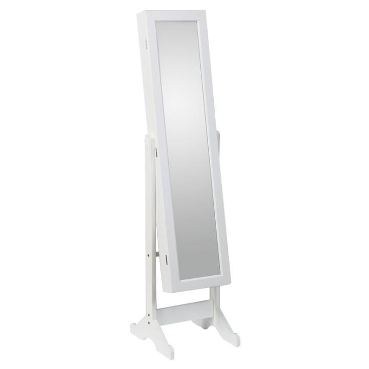 Zrkadlo MIROR, biela, s úložným priestorom