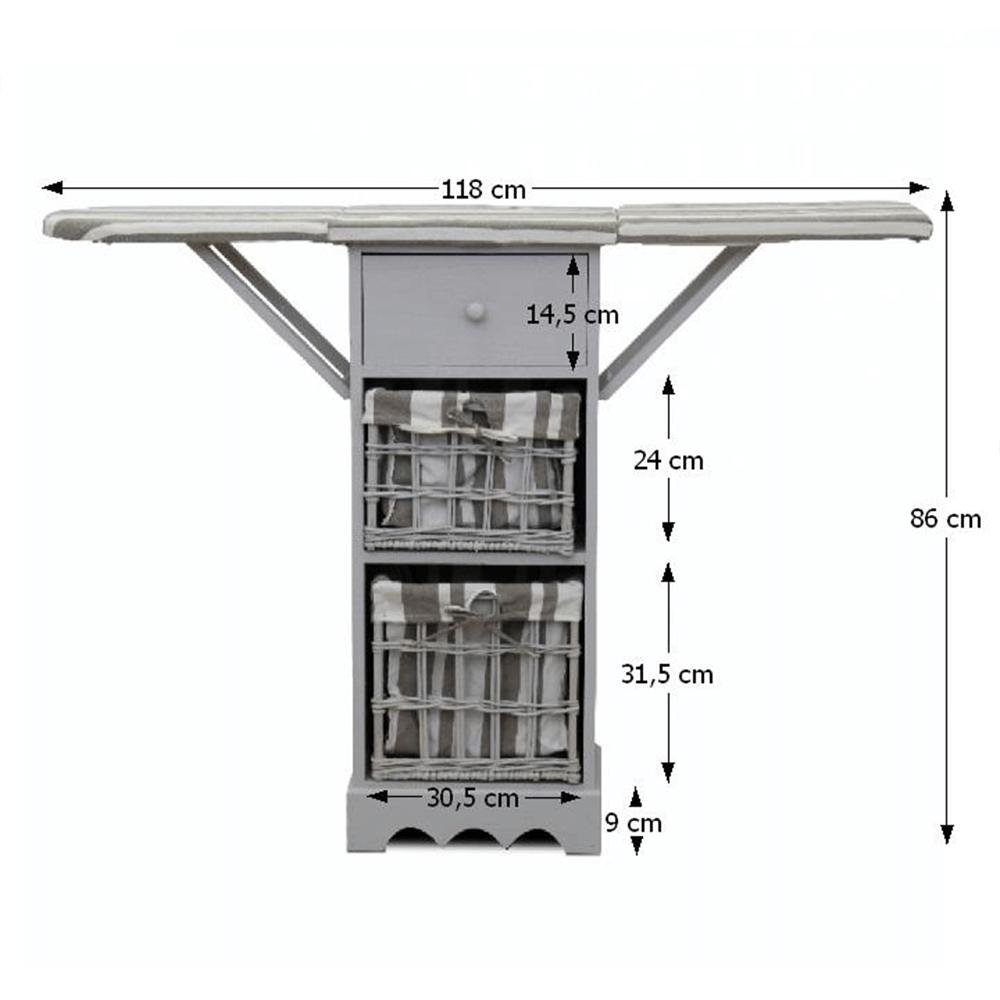 Žehliaca doska, sivá, BOND 1