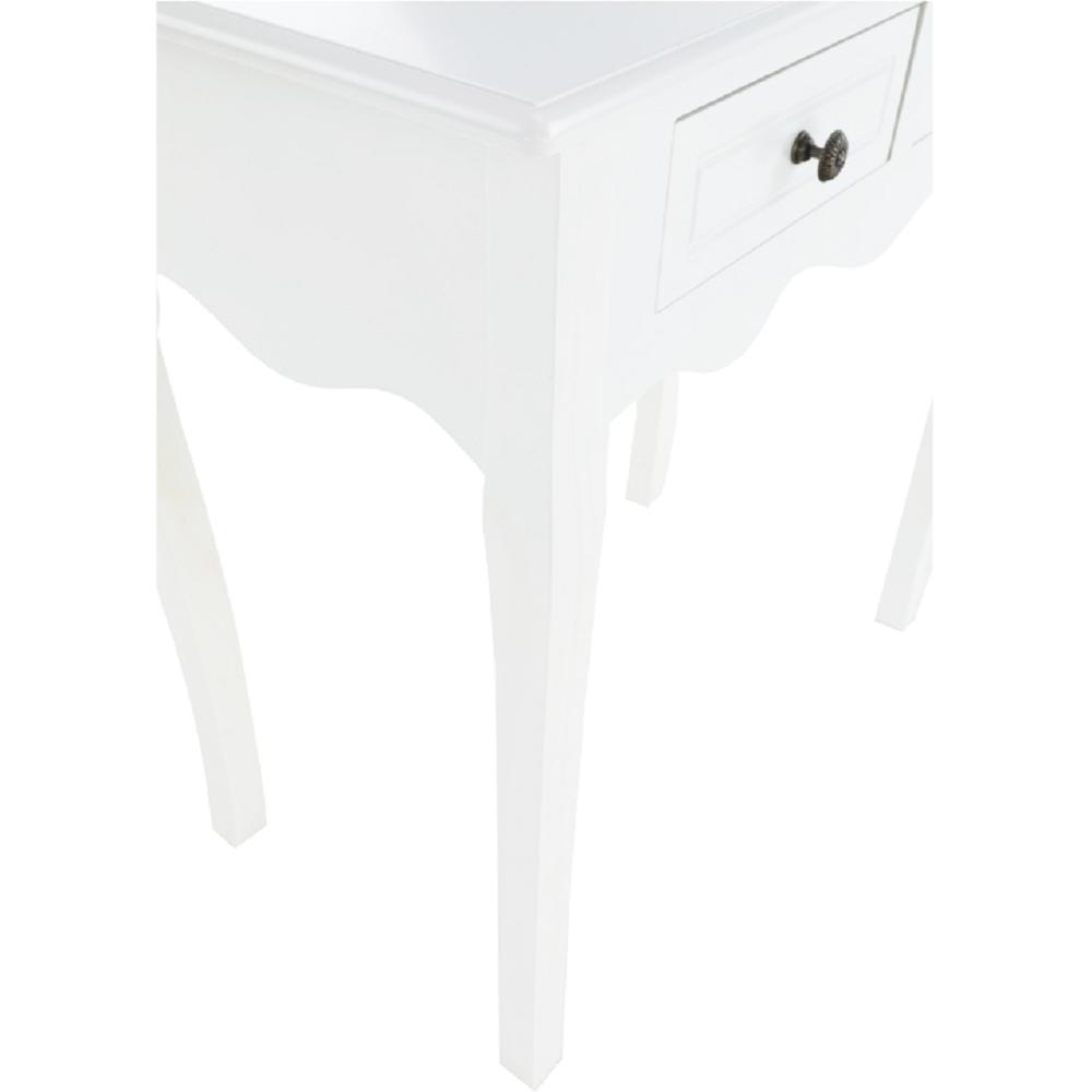 Toaletní stolek / toaletka, bílá, WAGNER 2, TEMPO KONDELA