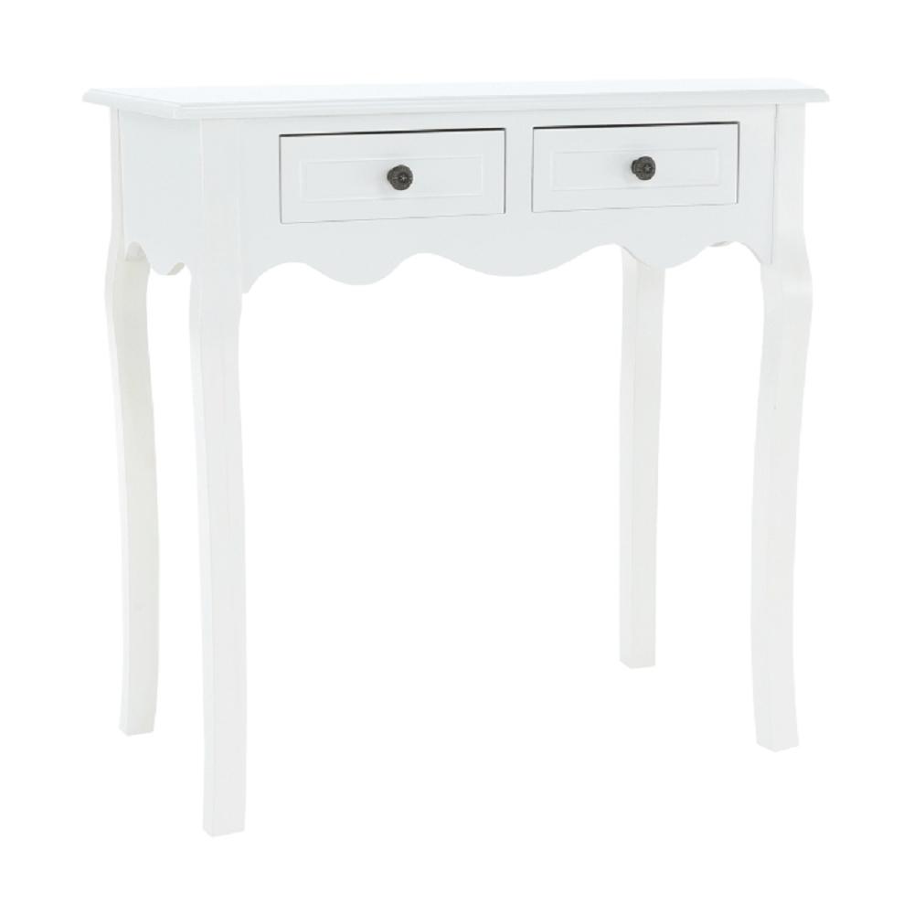 Öltözőasztal/sminkasztal, fehér, WAGNER 2