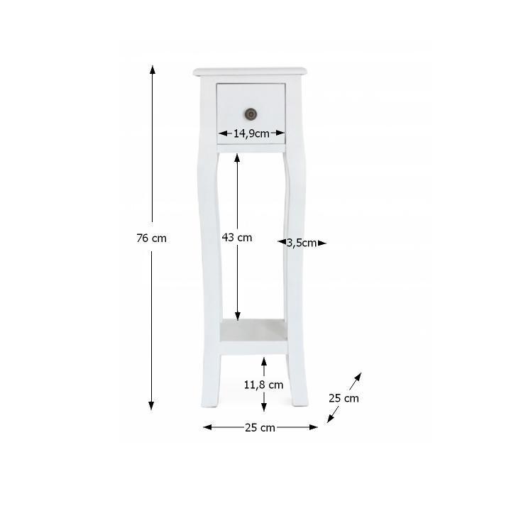 Toaletný stolík/toaletka, biela, WAGNER 3