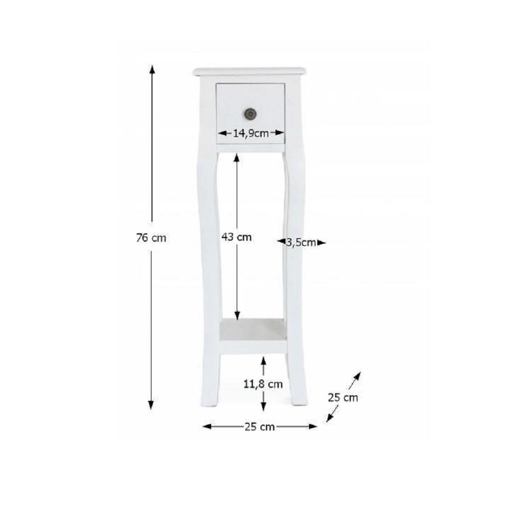 Öltözőasztal/sminkasztal, fehér, WAGNER 3
