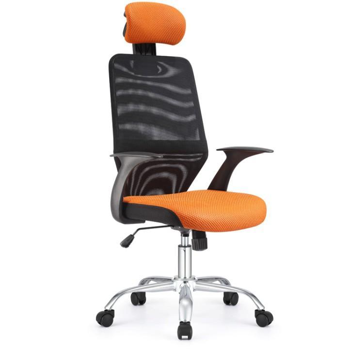 Kancelárska stolička, čierna/oranžová REYES