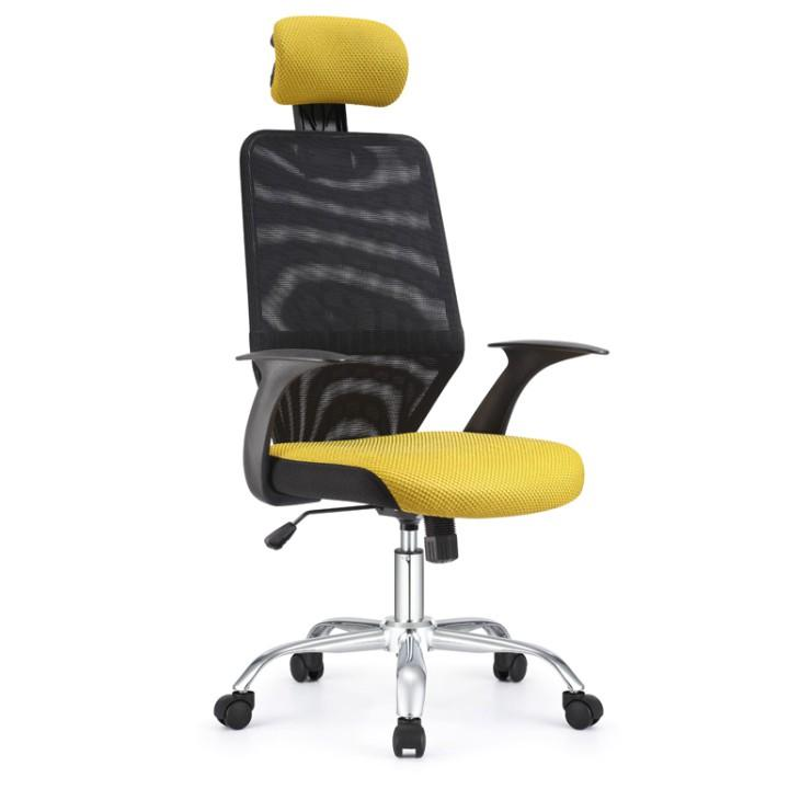 Kancelárska stolička, čierna/žltá REYES