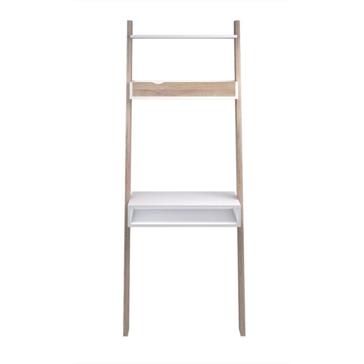 PC asztal polccal,sonoma tölgyfa/fehér OSLO 75389