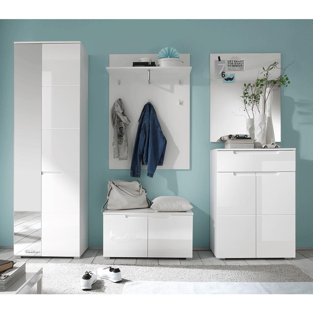 Zrcadlo, bílá extra vysoký lesk, SPACE 54-959-13, TEMPO KONDELA