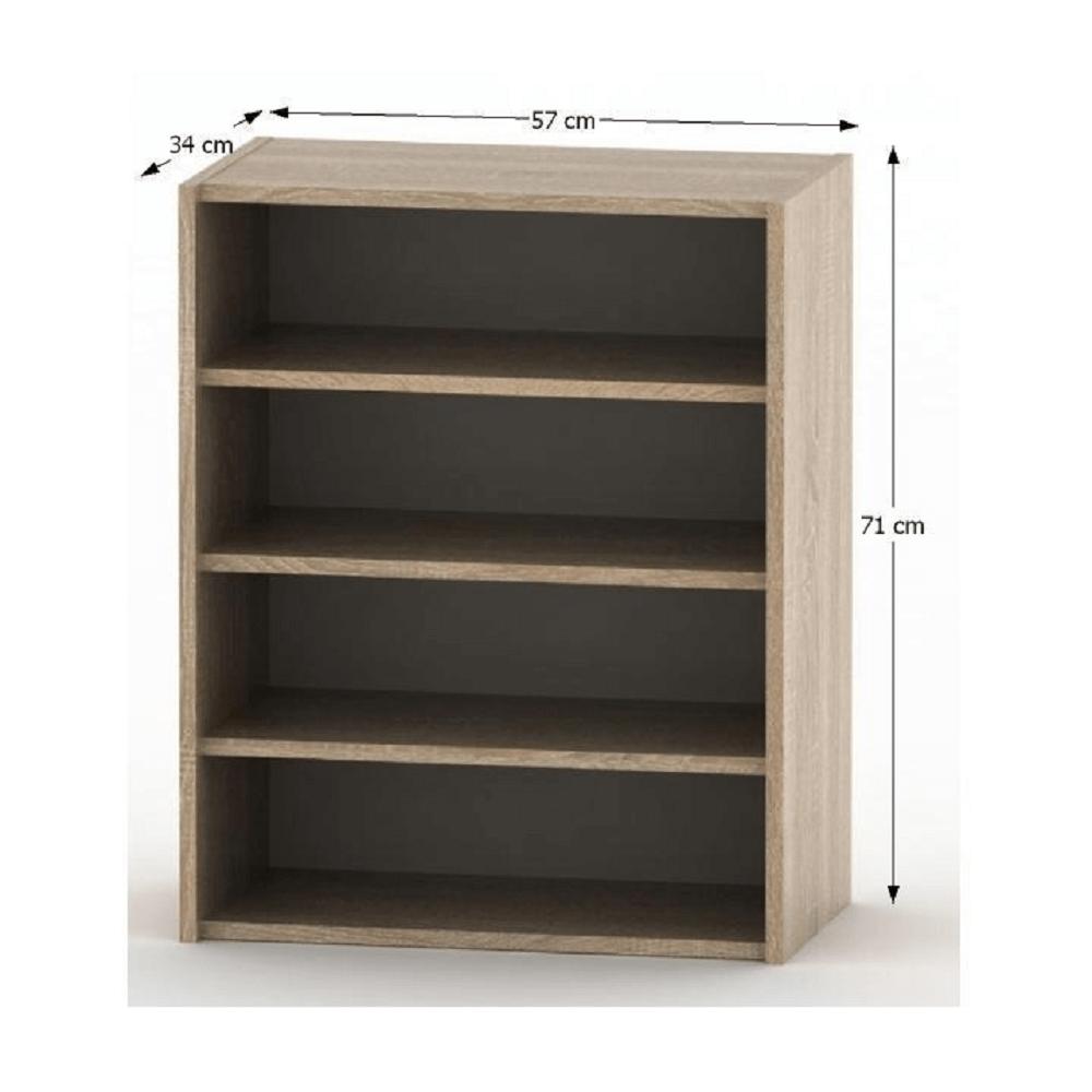 Nízká policová skříňka, dub sonoma, TEMPO ASISTENT NEW 013