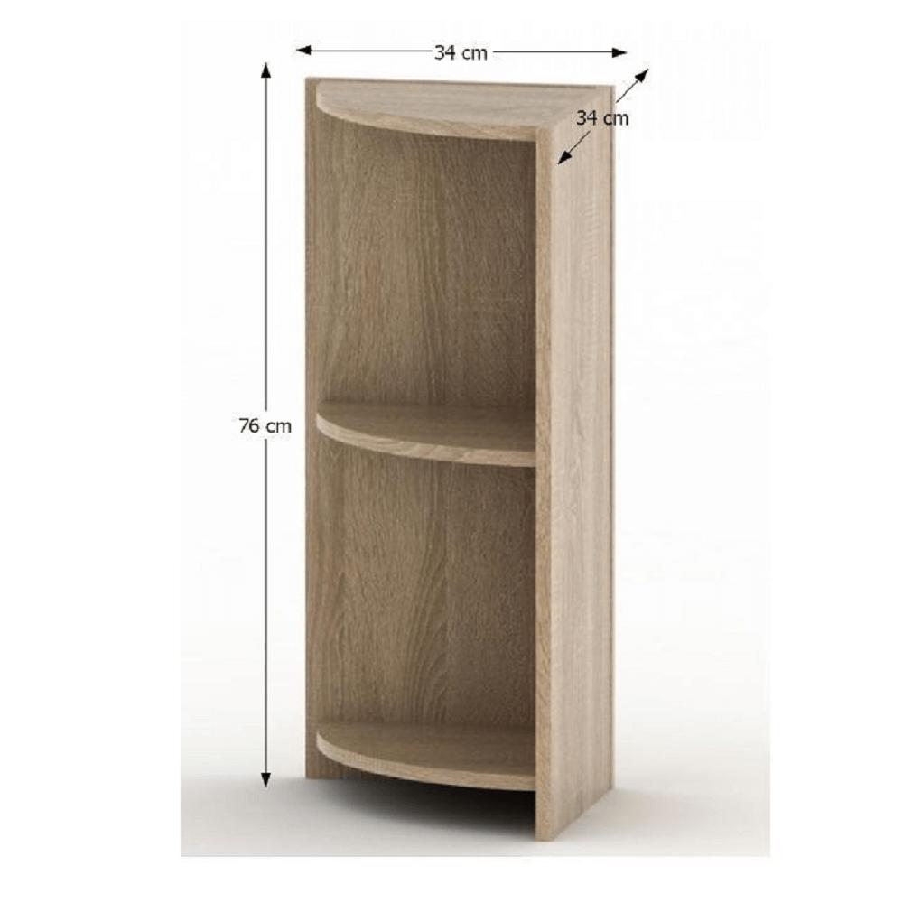 Rohová okrajová skříňka, dub sonoma, TEMPO ASISTENT NEW 014, TEMPO KONDELA