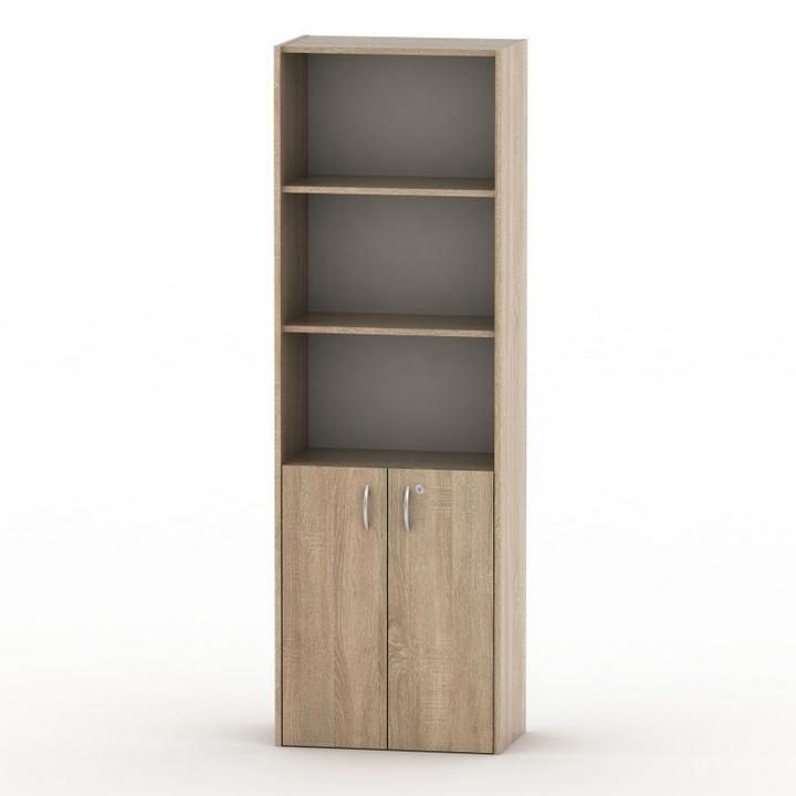 TEMPO ASISTENT NEW 002 szekrény, lent ajtók+zár, sonoma tölgyfa