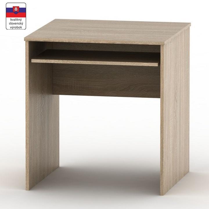 Stôl písací s výsuvom, dub sonoma, TEMPO ASISTENT NEW 023