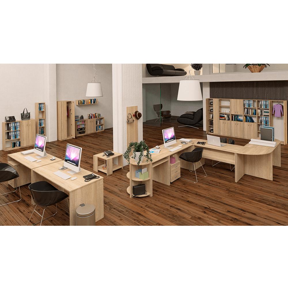 Stůl rohový obloukový, dub sonoma, TEMPO AS NEW 024