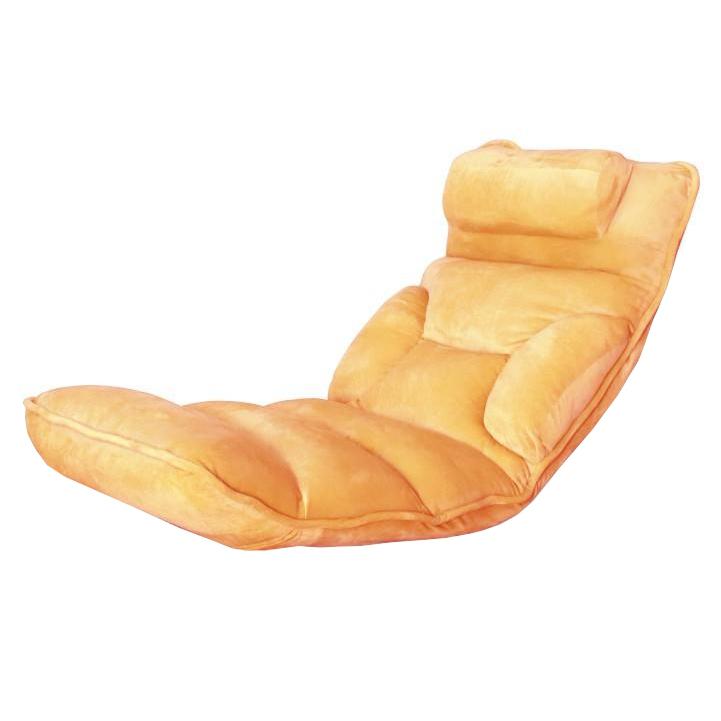 Relaxačné kreslo, látka oranžová, LOTA